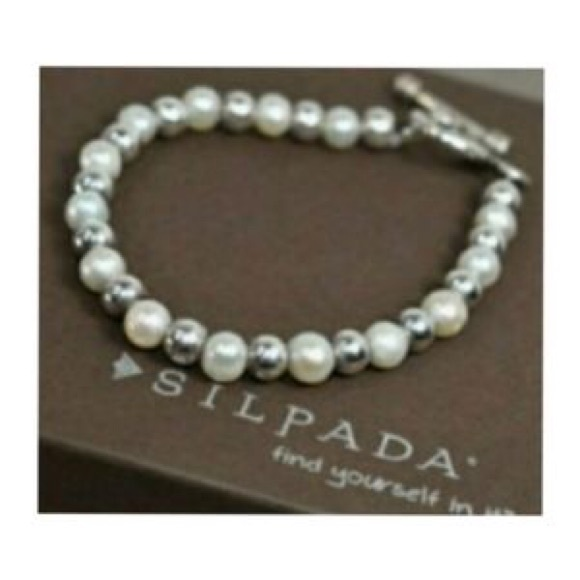 Silpada Sterling 925 and Cultured pearl bracelet